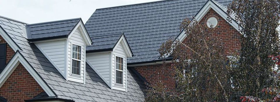 house with dark gray roof