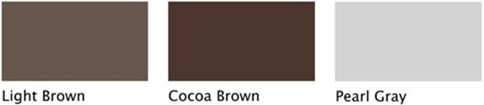 light brown / cocoa brown / pearl gray